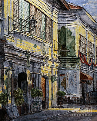 Painting - Vigan Houses by Joey Agbayani