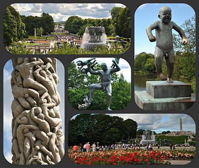 Photograph - Vigeland Park - Oslo - Composite by Jacqueline M Lewis
