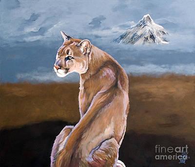 Painting - Vigilance by J W Baker