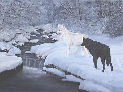 Vigilance - Wolves Original by Johanna Lerwick