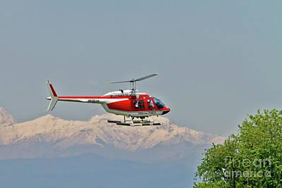 Vigili Del Fuoco Vf 80 Agusta A109 Power Helicopter Art Print by Amos Dor