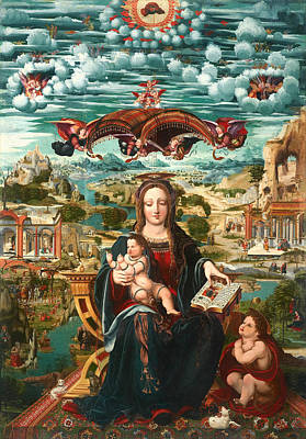 Christian Artwork Painting - Vigin And Child With The Infant Saint John by Mountain Dreams