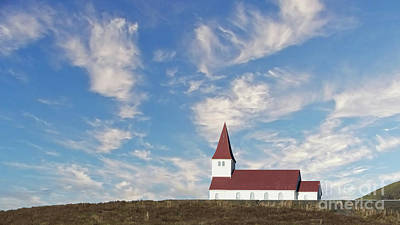 Photograph - Vik Church 1 by Jerry Fornarotto