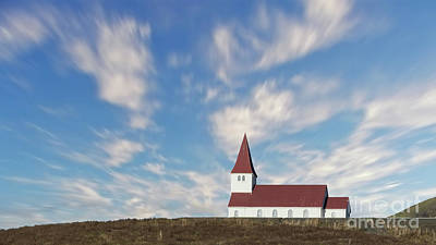 Photograph - Vik Church 2 by Jerry Fornarotto