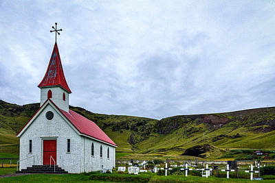 Photograph - Vik Church And Cemetery - Iceland by Stuart Litoff