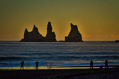 Photograph - Vik Sea Stacks At Dusk - Iceland by Stuart Litoff
