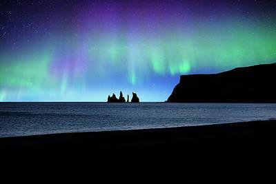 Photograph - Vik Under Lights by Philippe Sainte-Laudy
