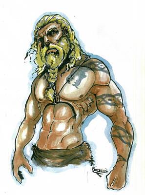Painting - Viking by Bartek Blaszczec