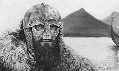 Viking Ships Drawing - Viking by Bobby Goldsmith