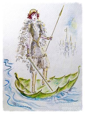 Floating Girl Painting - Viking Princess by Barbara Chase