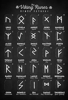 Photograph - Viking Runes by Taylan Apukovska