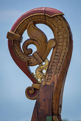 Photograph - Viking Ship Dragon Tail by Dale Kincaid