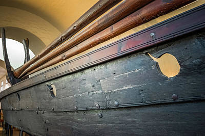 Photograph - Viking Ship Museum Oars Detail by Adam Rainoff