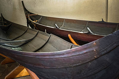 Photograph - Viking Ship Museum Small Boats by Adam Rainoff