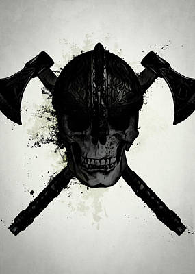 Warrior Wall Art - Digital Art - Viking Skull by Nicklas Gustafsson
