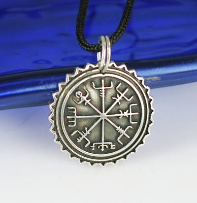 Esprit Mystique Jewelry - Viking Sterling Silver Vegvisir Pendant by Virginia Vivier