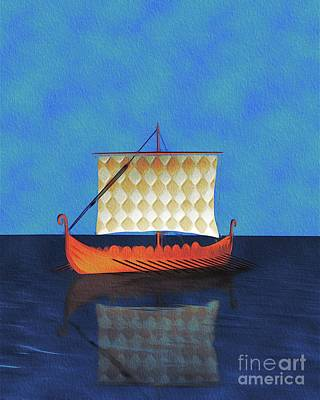 Abstract Landscape Royalty-Free and Rights-Managed Images - Viking Vessel by Pierre Blanchard