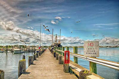 American Milestones - Viking Village Marina in Bargenat Light  New Jersey by Geraldine Scull
