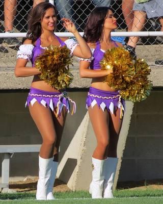 Photograph - Vikings Cheerleaders by Kyle West