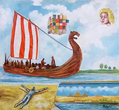 Vikings Print by Rudolf  Zamazal