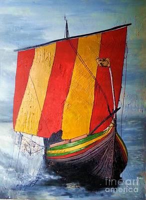 Painting - Vikingship by Susanne Baumann