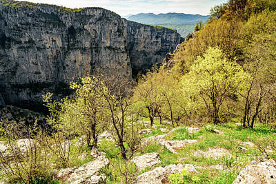 Photograph - Vikos Gorge Landscape, Zagori, Greece by Global Light Photography - Nicole Leffer