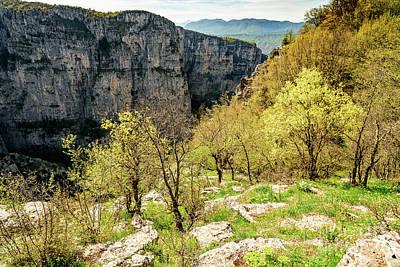 Photograph - Vikos Gorge Landscape, Zagori, Greece by Global Light Photography - Nicole Leffer