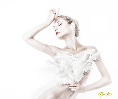 Photograph - Viktory In White - Feathered by Rikk Flohr