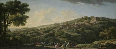 Villa Painting - Villa At Caprarola  by Claude-Joseph Vernet