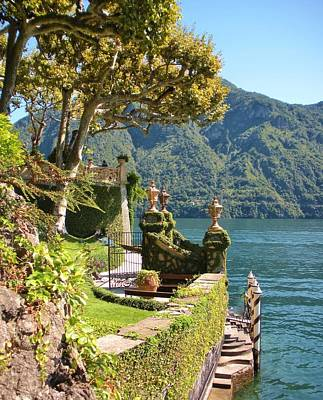 Lake Como Photograph - Villa Balbianello Marina by Marilyn Dunlap