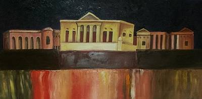 Birgu Painting - Villa Bighi, Malta by Veronique Vella Muskat
