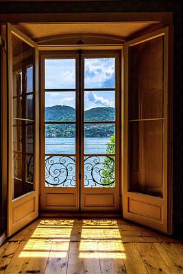 Photograph - Villa Carlotta Window by Carolyn Derstine