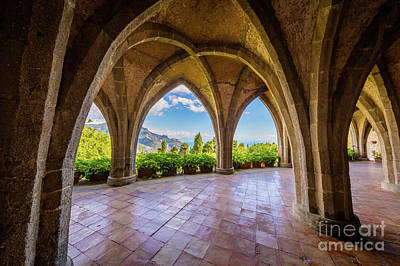 Ravello Photograph - Villa Cimbrone Arches by Inge Johnsson