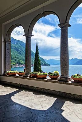 Photograph - Villa Monastero Terrace View by Carolyn Derstine