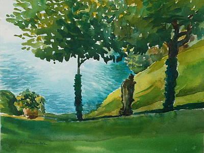 Painting - Villa Del Balbianello by Anna Lobovikov-Katz