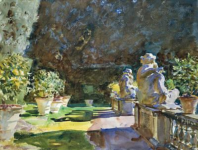 Italian Landscape Painting - Villa Di Marlia Lucca by John Singer Sargent