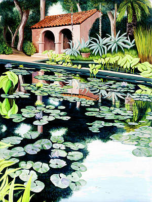 Lily's Pond - Prints Available In Large And Smaller Sizes Art Print