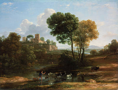 Working Painting - Villa In The Roman Campagna by Claude Lorrain