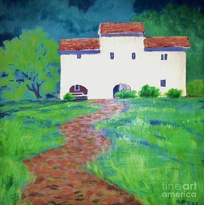 Painting - Villa In Tuscany by Suzanne McKay