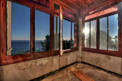 Photograph - Villa Of Windows On The Sea - Villa Delle Finestre Sul Mare IIi by Enrico Pelos