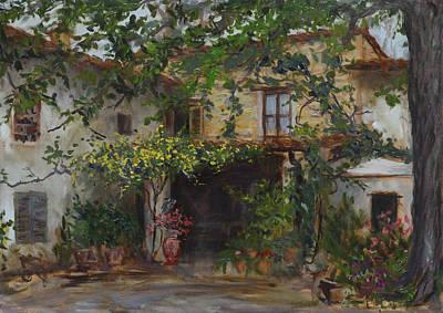 Painting - Villa Palmerino by Chapman Hamborg