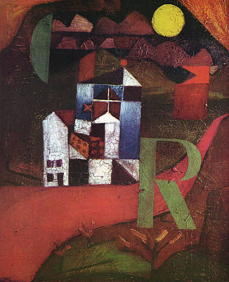 Round Painting - Villa R by Paul Klee