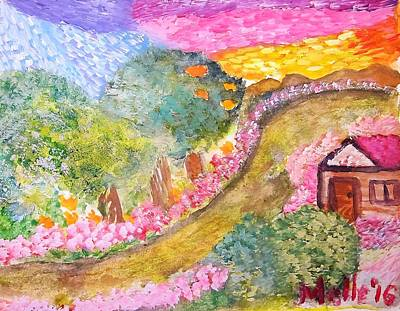 Southeast Asia Painting - Villa Roca Dreams  by Carmela Maglasang