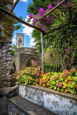 Ravello Photograph - Villa Rufolo Arbor by Inge Johnsson
