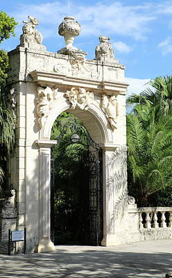 Photograph - Villa Vizcaya Garden Gate by Christiane Schulze Art And Photography