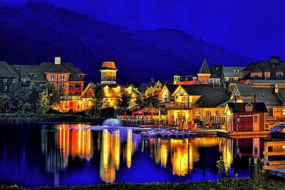 Photograph - Village At Blue Hour by Jeff S PhotoArt