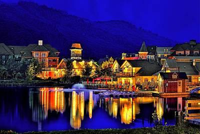 Village At Blue Hour Art Print