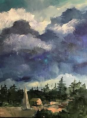 Painting - Village At Night by Kathleen Harrington
