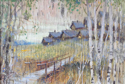 Painting - Village At The Edge Of Woods by Ilya Kondrashov