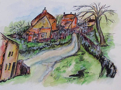 Painting - Village Back Street by Clyde J Kell